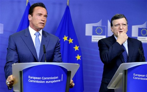 Yesterday Arnold Swartzenegger paied the EU President a visit.