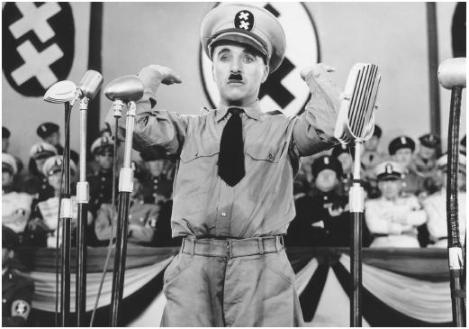 "Charlie Chaplin made fun of Hitler in the 1940 movie ""The dictator""."