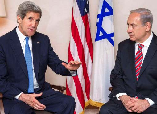 John Kerry is trying to lay a trap around the neck of Benjamin Netanyahu and the Jewish people.