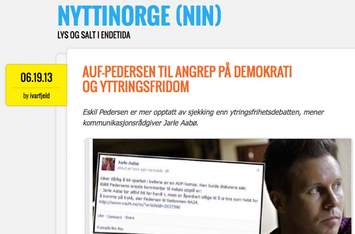 The new blog in Norwegian will display the new totalitarian forces.