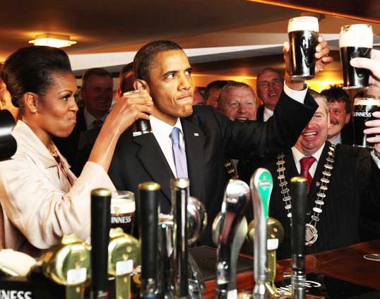 The western media brings infotainment of no value. Here the Obamas's in Ireland.