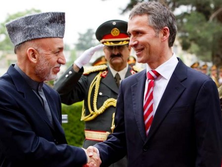 """The Afghan puppet President Karzai do not want to smoke """"peace pipes"""" with Norwegian PM Stoltenberg and the Taliban."""