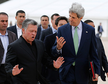 The King of Jordan and John Kerry seems to be confused, in regards to their relationship with Israel.