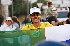 A Christians from Brazil in Jerusalem.