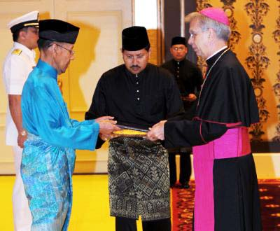 "Archbishop Joseph Marino landed into trouble accepting ""allah"" in Malaysia."