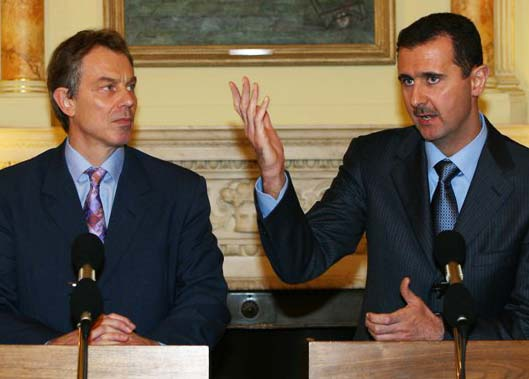 Not long ago, both Tony Blair and Basher al-Assad was good business partners. Dirty business.