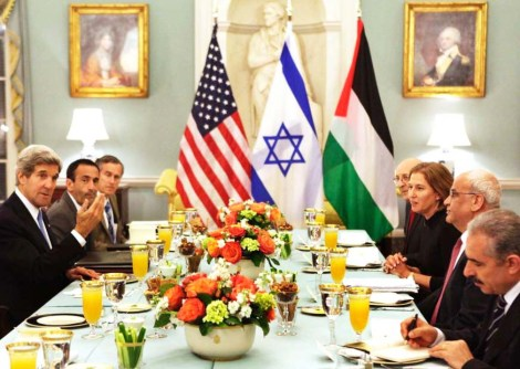 Roman Catholic John Kerry, Jewess Tzipi Livni and Muslim Saeb Erekat negotiate based on acceptance of murders of Jews.