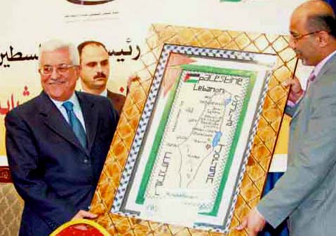"""On the latest Nazi inspired map of the PLO, there is no place for israel. Only """"Palestine""""."""