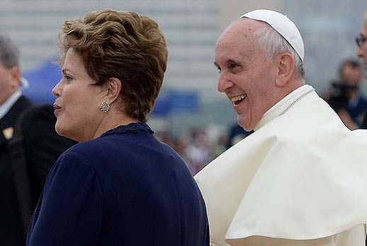 The Pope is safe, protected by the President of Brazil.