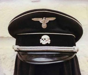 All Waffen SS officers had a skull as their idol on their cap.