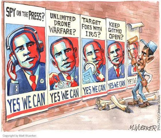 Obama ran a campaign promising change. We all have seen the fruits.
