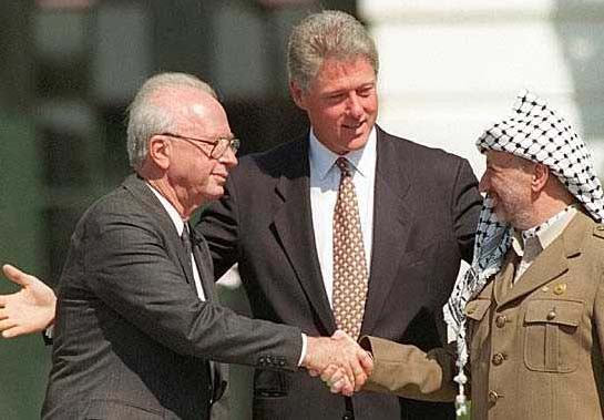 "The parameters of Bill Clinton triggered a new war called the ""second intifada""."