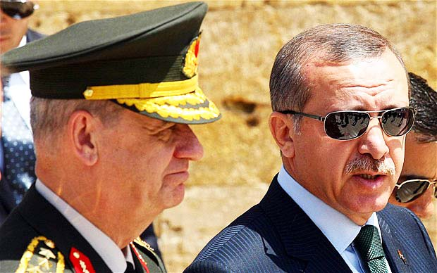 General Ilker Basbug was removed from office, and put behind bars by Erdogan.