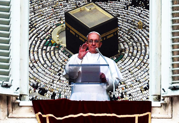 francis muslim Pope francis, real name jorge bergoglio, has called on christians in europe and the us to open their doors to muslim refugees and migrants last august, he went so far as to pontificate that refugees' wellbeing trumps national security, while he himself is safely ensconced behind the vatican's 40 ft tall walls.