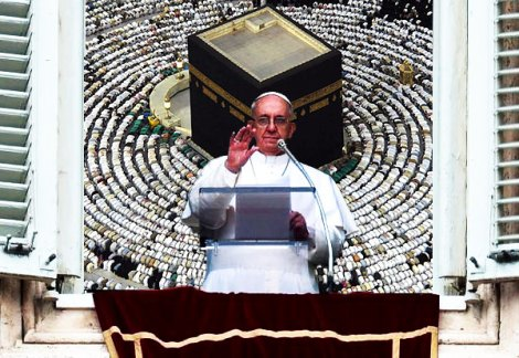 "The Pope wants to be greeted as the ""Holy Father"" by all Muslims and Catholics."