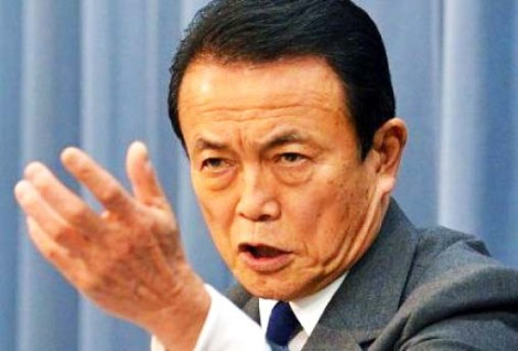 "Taro Aso wants to remove any Weimar republic ""obstructions""  in the Japanese constitution."