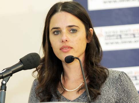 Bayit Yehudi faction chairwoman Ayelet Shaked