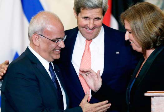 John Kerry helps to Arabs to find a way to destroy Zionist Israel.