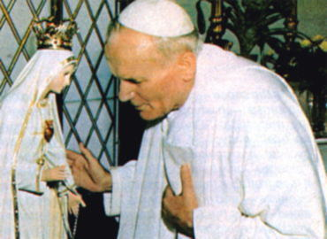 John Paul II was an idol worshiper all his life. Here in Portugal.