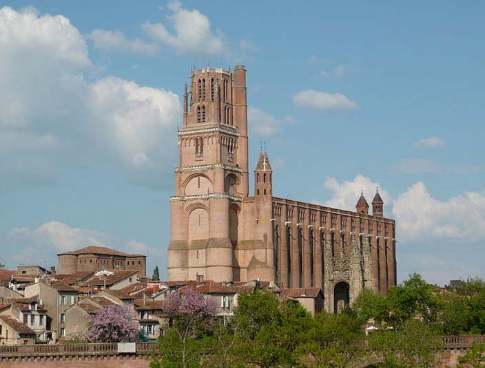 The Albi Cathedral is built on a site of a former Chuch.