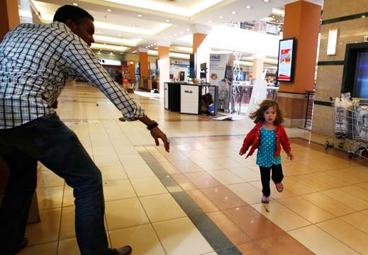 This small girl escaped the Nairobi massacre, done by followers of Muhammad.