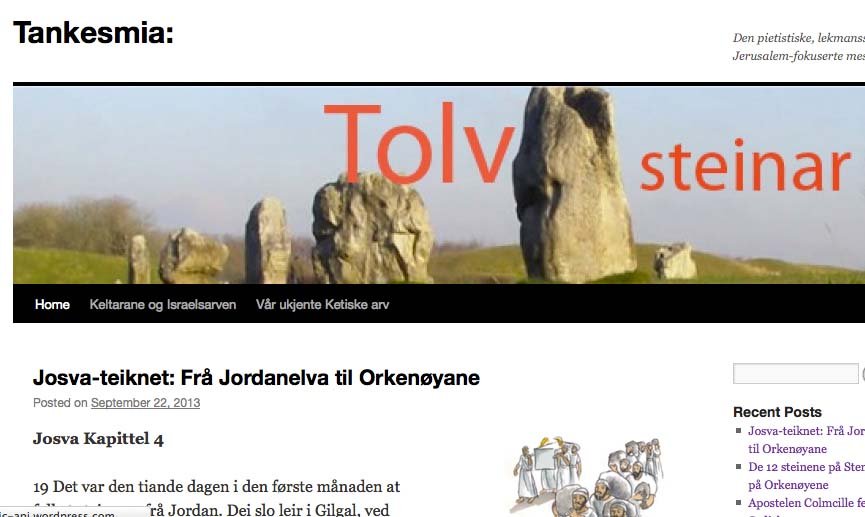 The New Norwegian website with information about Celtic Christianity.
