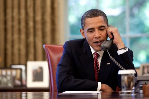 Obama had a nice phone chat with the President of Iran.
