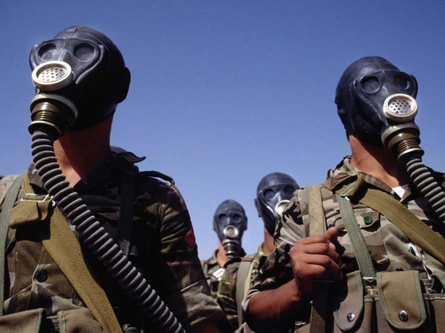 The people in the Middle East face use of chemical weapons.