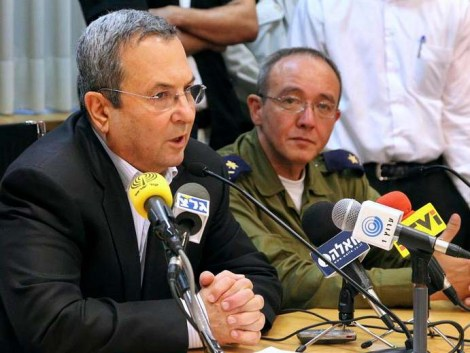Former Minister of Defense Ehud Barak with former Naval Chief