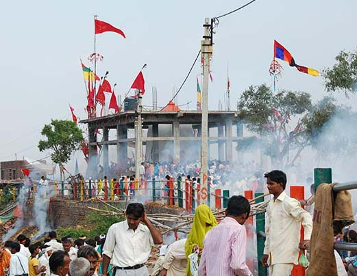 Worshiping idols at Ratangarh temple brought curses down on 89 people.
