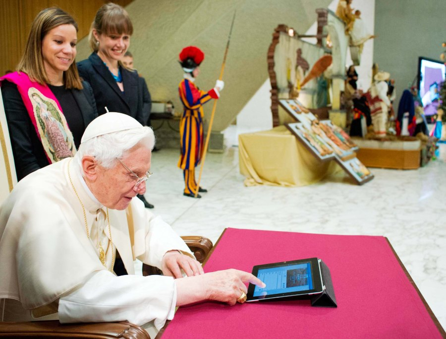 The former Pope might have sent some cryptic messages on twitters, scrutinized by the NSA.