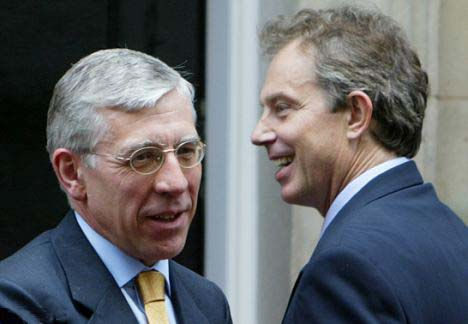 Jack Straw was Foreign Secretary during the Tony Blair regime in United Kingdom.