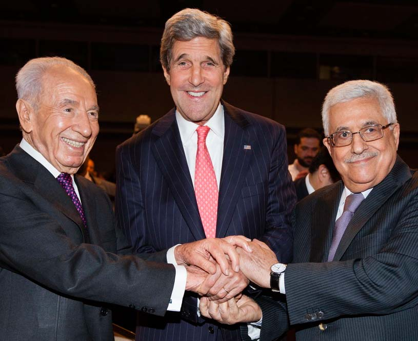 An unholy alliance. Shimon Perses support forces that works for the destruction of Israel.