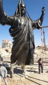This statues can not save it self, it falls down. And Islamic forces might bow it to pieces.