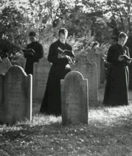 Demonized Catholic priests consult the spirits of the dead.