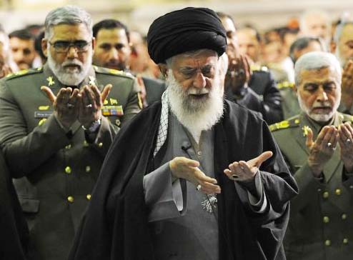 "The Ayatollah and his generals praying to ""allah"" for help in their Global Jihad."