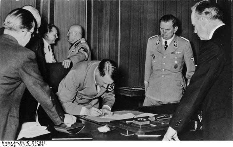 Münchener Abkommen, Unterschrift Adolf Hitler
