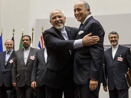 "Western leaders rejoice over a ""peace deal"" with Iran."