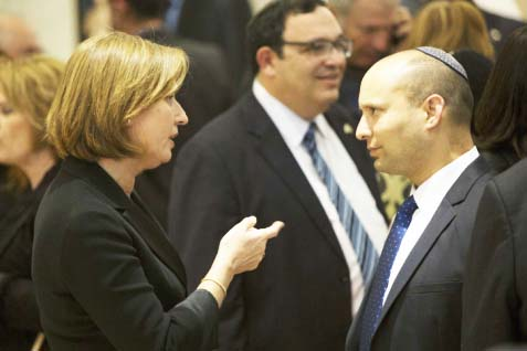"Tzipi Livni accuse Naftali Bennet of working against ""peace"" for the people of Israel."