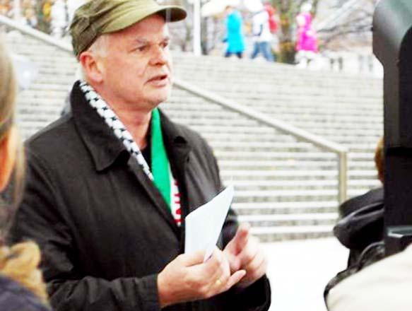 PLO=supporter Odd Kristian Reme mocks Jewish victims of Nazism.