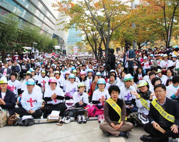 True Christians in South Korea brand WCC as a body for antichrists.