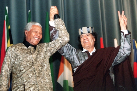 Mandela did not mind Gaddafi killing is own people.
