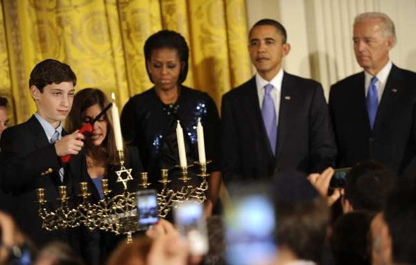 "The Obamas celebrate the fests of all the ""Holy religions""."
