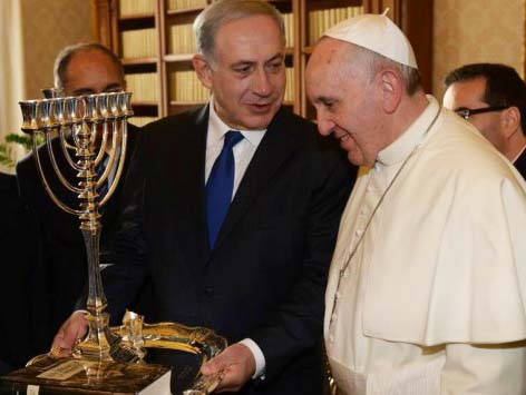 Benjamin Netanyahu surrender to the claimed authority of the Holy See.