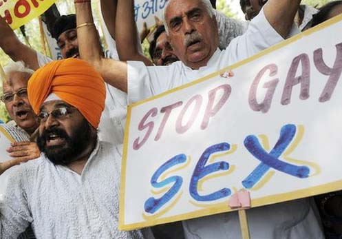 Indians at large do not want homosexual perverts to have their way in public.