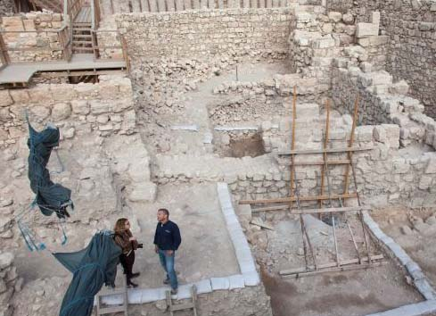 Inside this ruin in Jerusalem coins from fist century B.C has been discovered.