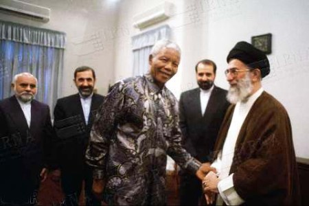 Nelson Mandela displayed public support of the totalitarian Ayatollah regime.