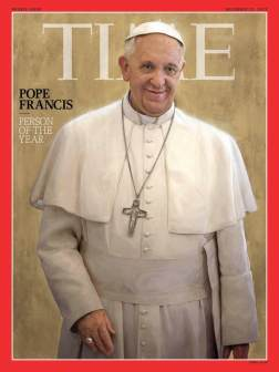 Pope Francis is hailed by the major secular magazine.