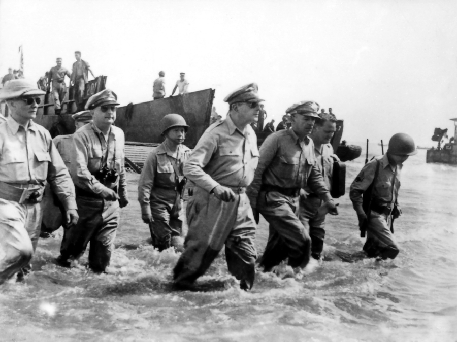 Douglas MacArthur returned as promised to the Philippines.