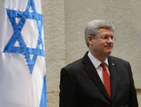 Canadian Prime Minister John Harper praised Israel at his address in the Knesset.